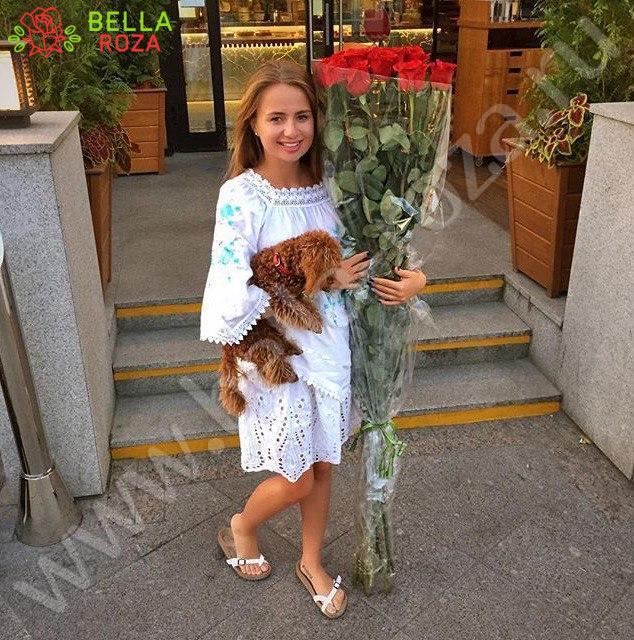 Длинные розы купить в москве